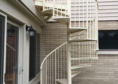 Portage, MI - Spiral Stair to Deck