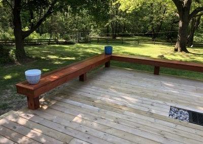 Kalamazoo, MI - Custom Cedar Bench