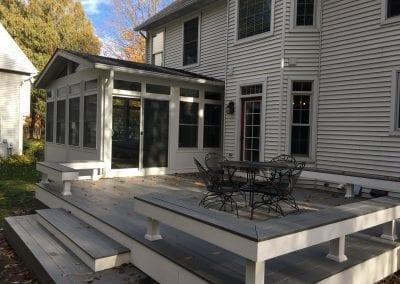 Plainwell, MI - Composite Deck & Benches