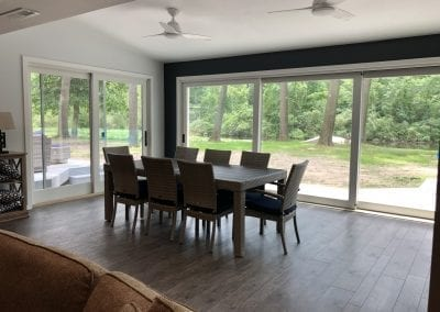 Schoolcraft, MI - Framed Sunroom, Open House Wall